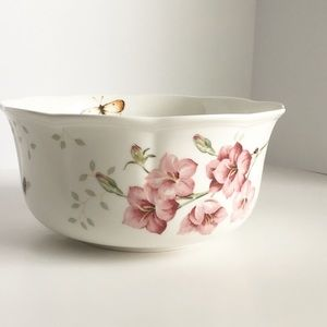 2 Lenox butterfly lavender meadow nesting bowls